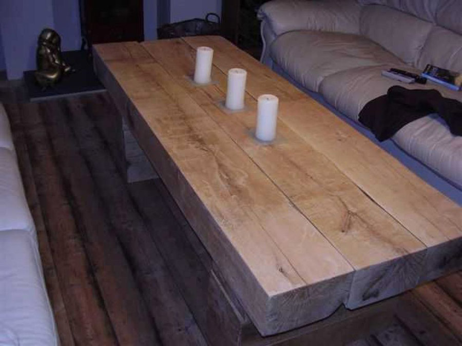 rail sleeper coffee table - coffee addicts