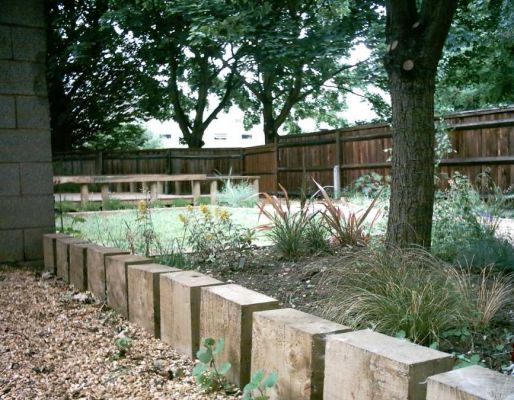 David Bloor's George Green school railway sleeper project
