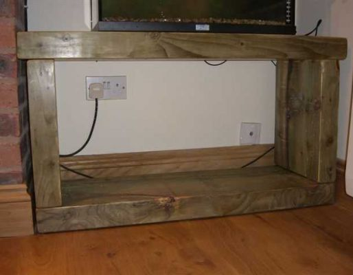 Dominic Byrne's aquarium stand from railway sleepers