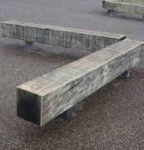 Eagle Brewery Wharf fixed oak benches