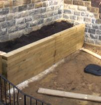 Eamonn's rectangular raised bed with railway sleepers