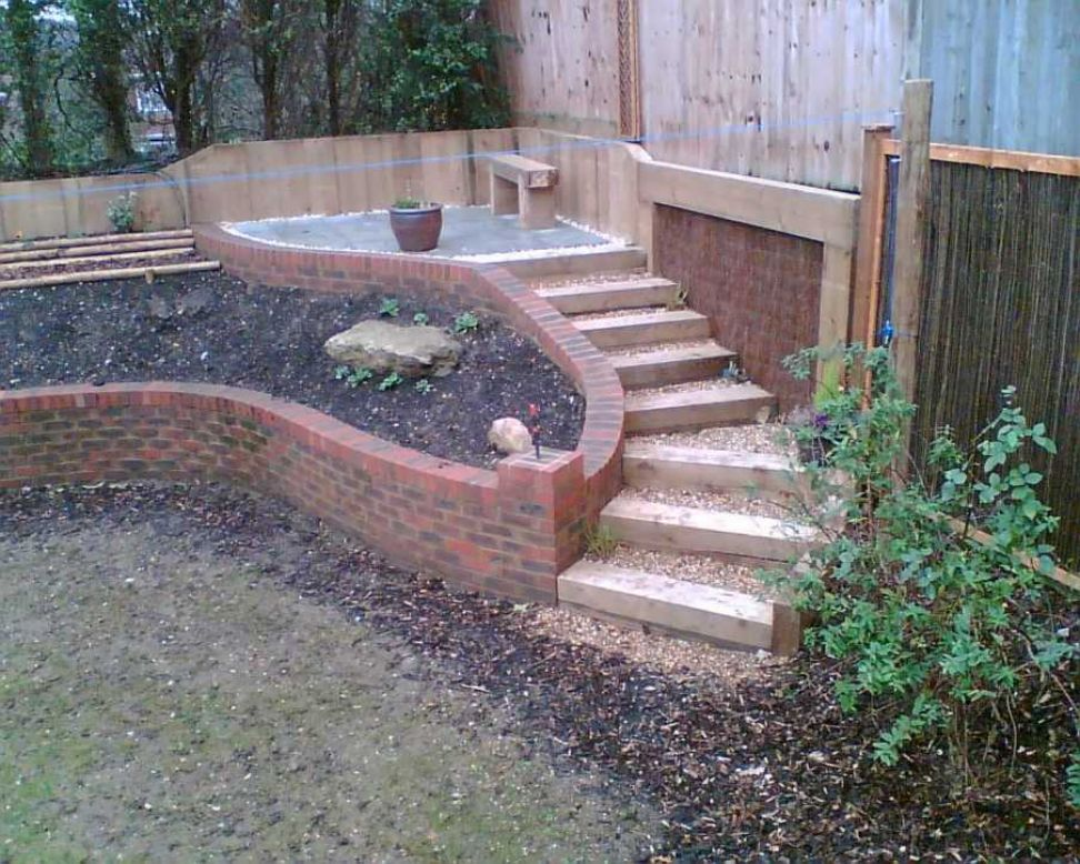 Railway sleepers for Garden designs sleepers