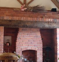 Collection of anonymous fireplaces from railway sleepers