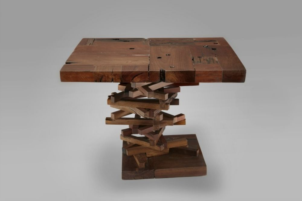 From railway sleepers to art furniture for Art design furniture