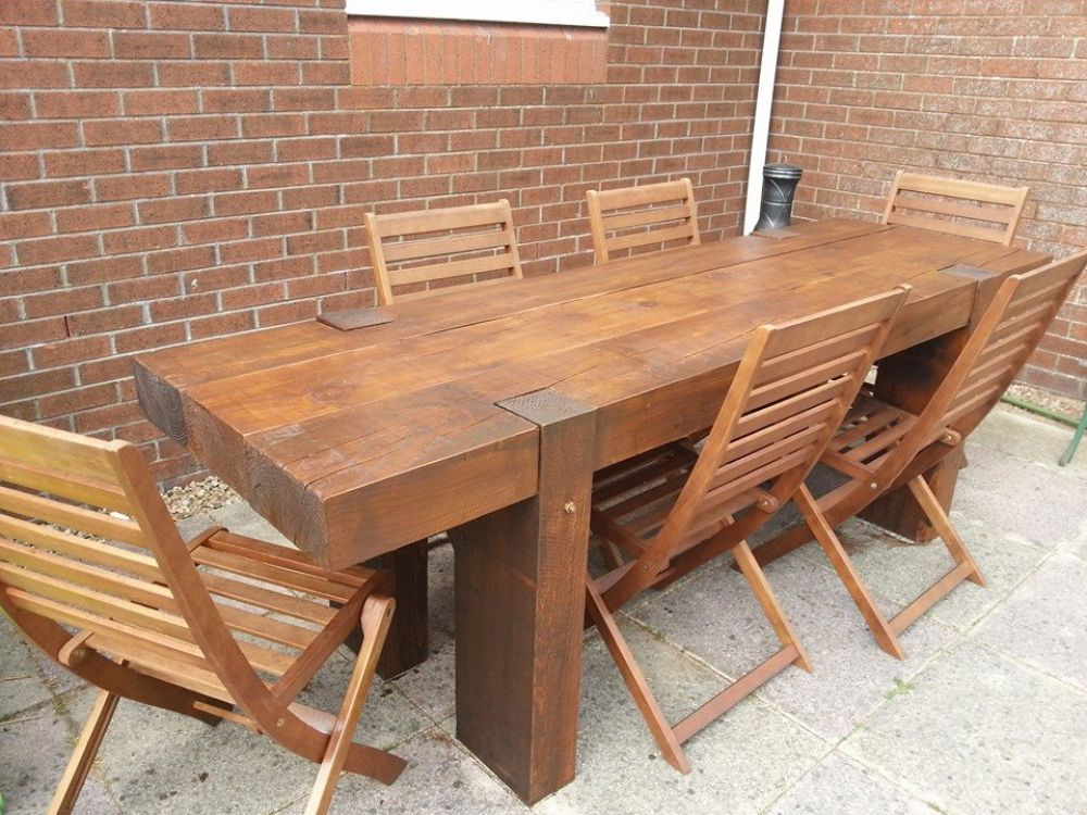 Garden Table From 2 4m Long New Railway Sleepers