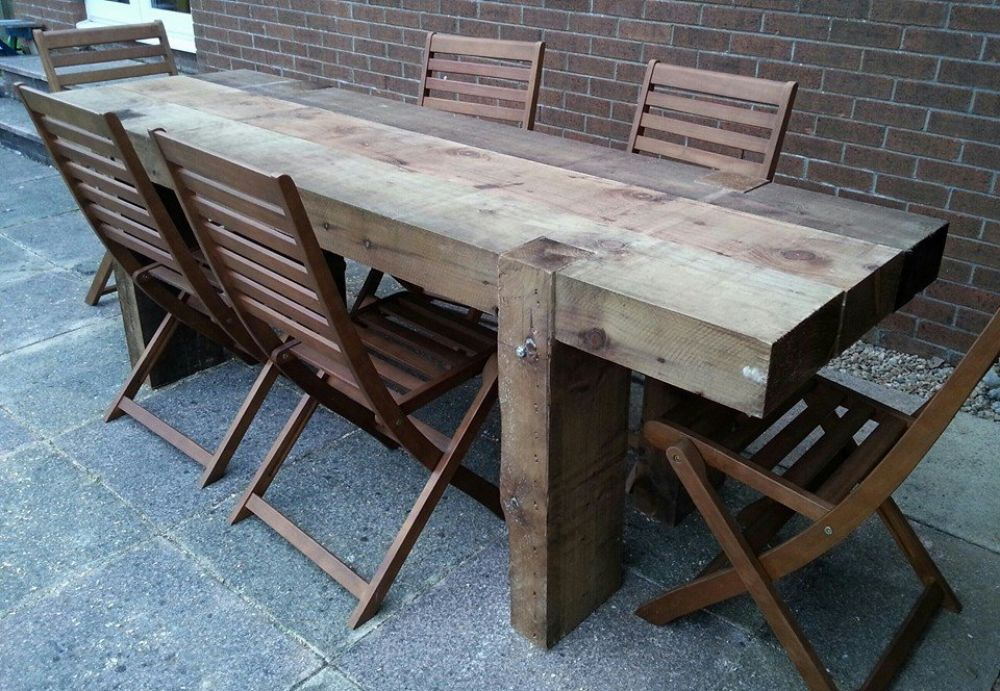 Garden Table From 24m Long New Railway Sleepers