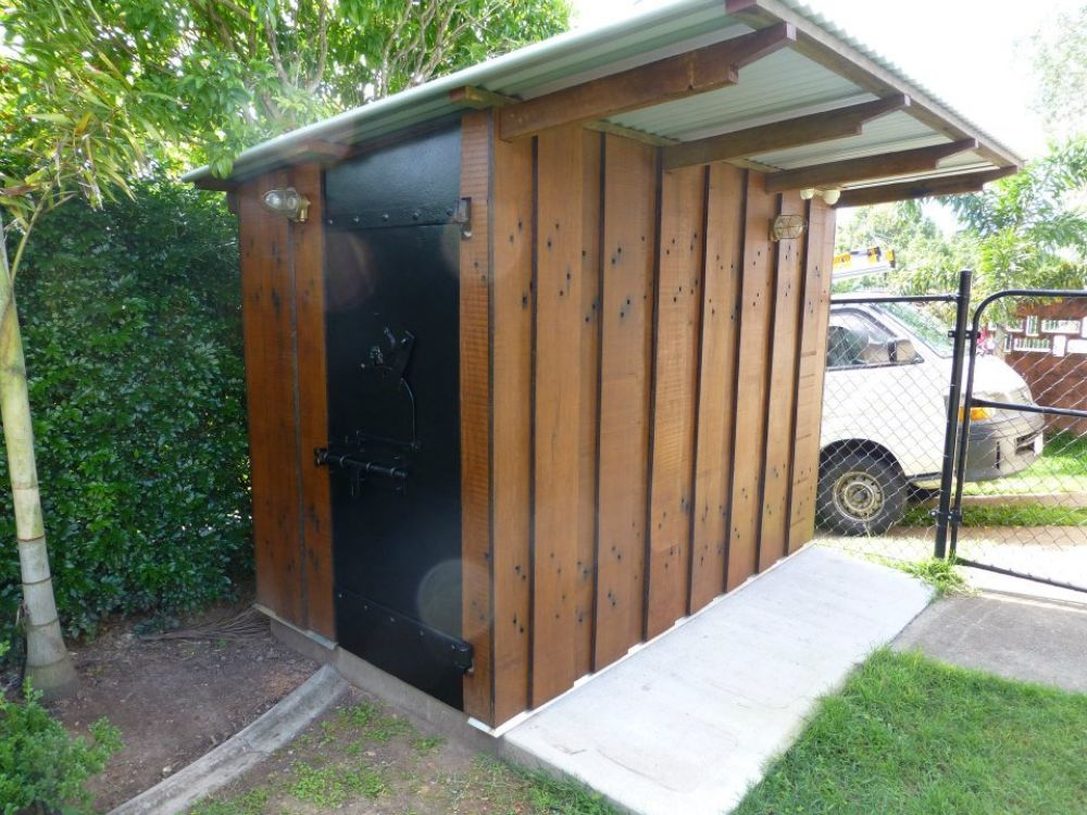 Luke S Unique Garden Shed From Planked Railway Sleepers