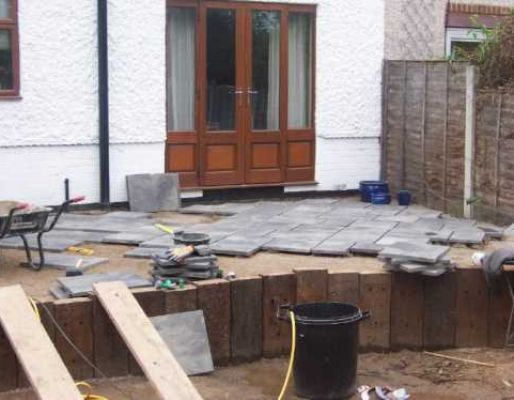 Garden Solutions railway sleeper project