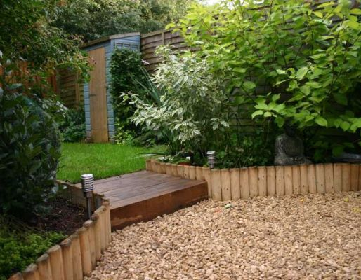 Raised bed projects with railway sleepers for Garden design using railway sleepers