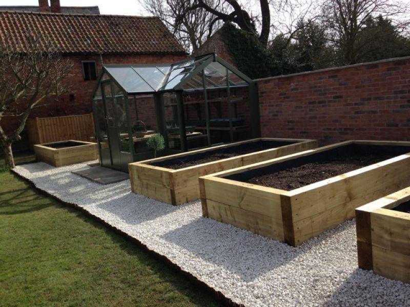 Nottingham railway sleeper raised beds for Sleeper garden bed designs