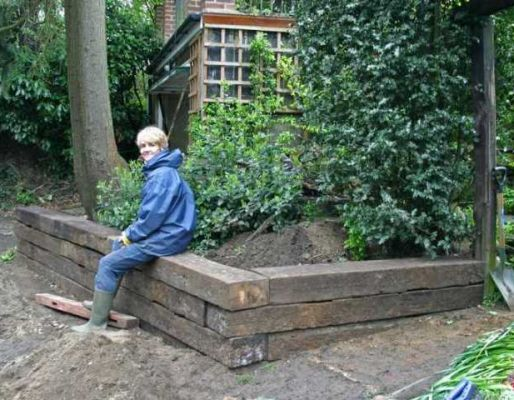 Graeme's railway sleeper project