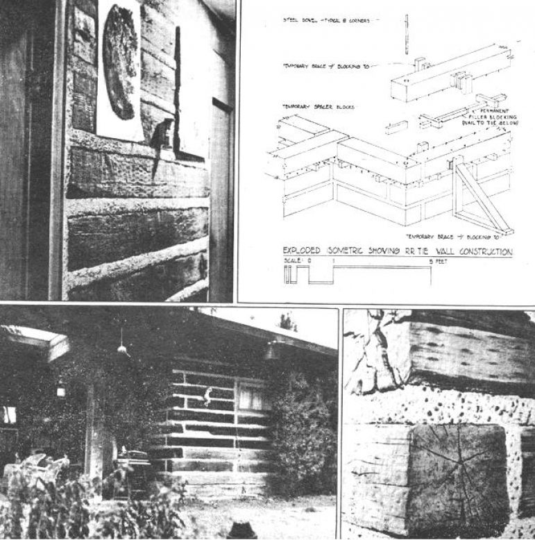 1970 S House Built With Railway Sleepers