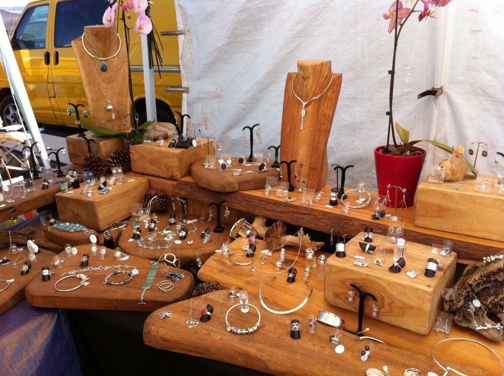 Devon Jewellery Display With Railway Sleepers