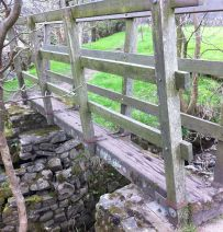 Dalesway footbridges from railway sleepers