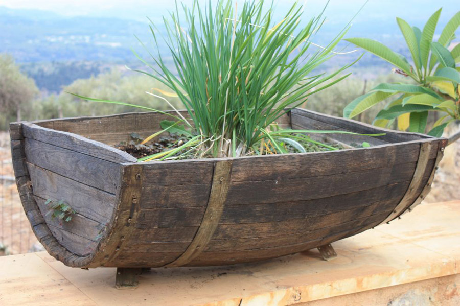 Railway sleepers for Alternative planters