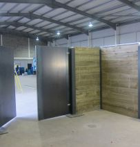 Transform's warehouse space using RSJs & new railway sleepers
