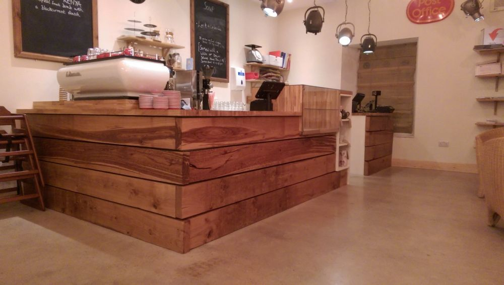 Coffee Bar Using New Railway Sleepers