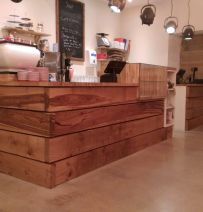Coffee Apothecary - designed with new railway sleepers