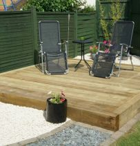 James Gill's deck with new railway sleepers