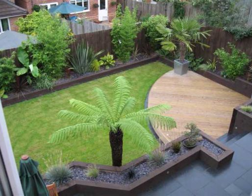 The Abbott's garden project with railway sleepers
