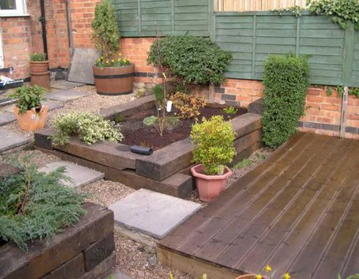 John & Sarah's railway sleeper raised bed