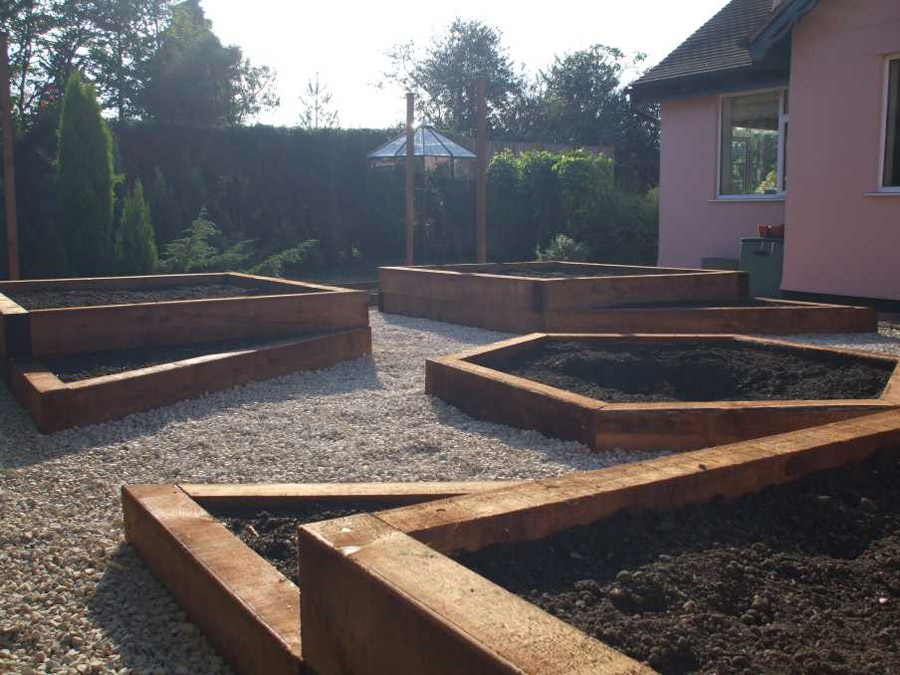 Creating Raised Beds With Sleepers