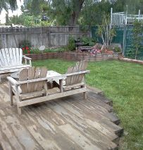 Californian deck from railway sleepers