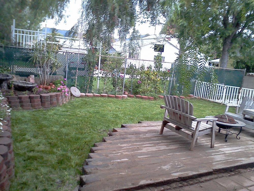 California Deck From Used Railway Sleepers