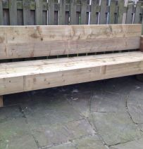 Jonathan's 9 foot railway sleeper bench & garden seat