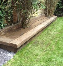 Jonny's Raised Bed with reclaimed Jarrah railway sleepers