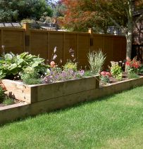 Keith Wheatley's Raised Beds with New Railway Sleepers