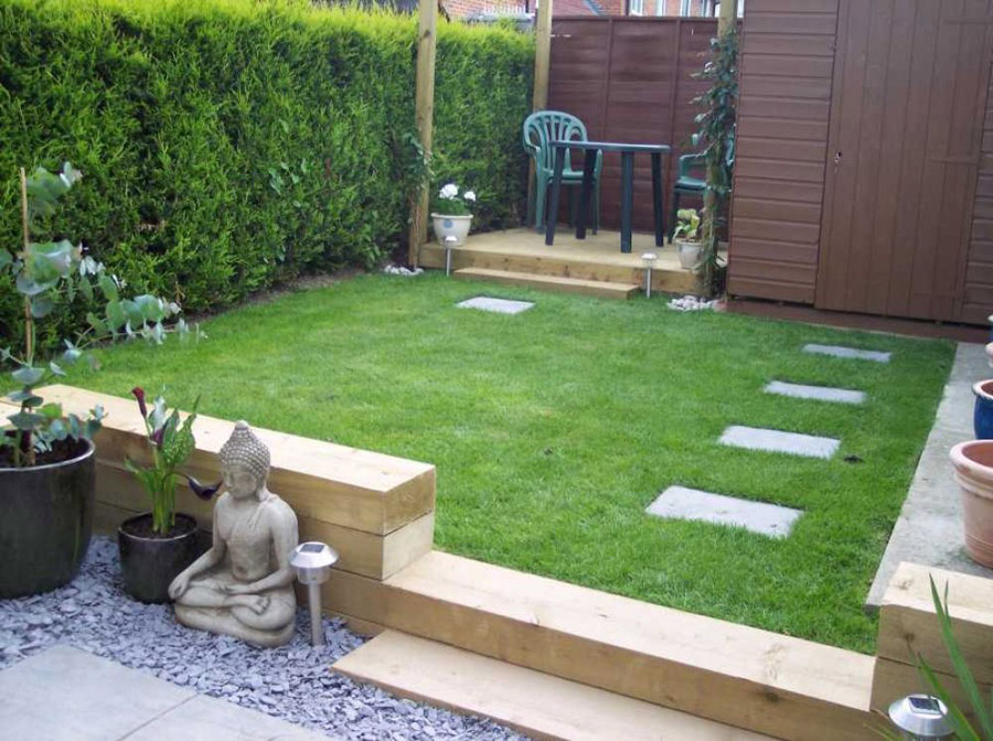 Railway sleepers for Garden design kerry