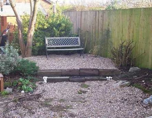 Kerry & Spencer's railway sleeper terrace