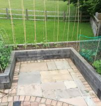 Crafty Oak's beautiful raised beds from new oak railway sleepers