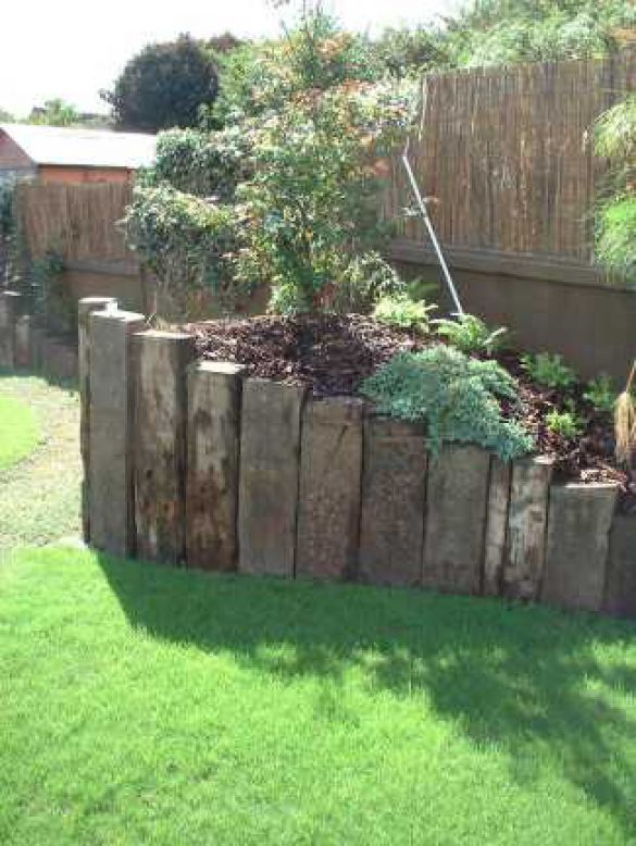 how to build a high raised garden bed with sleepers