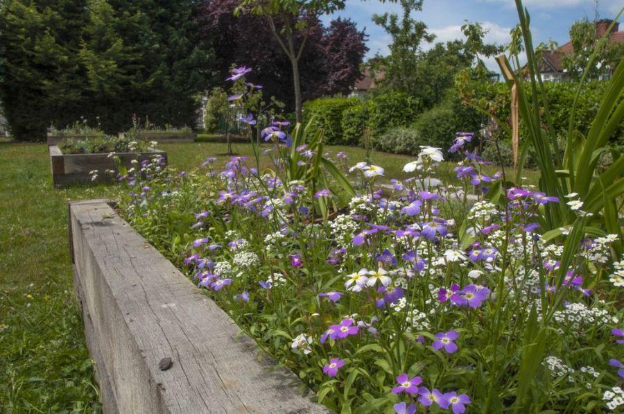 Railway sleepers for Kingsbury garden designs