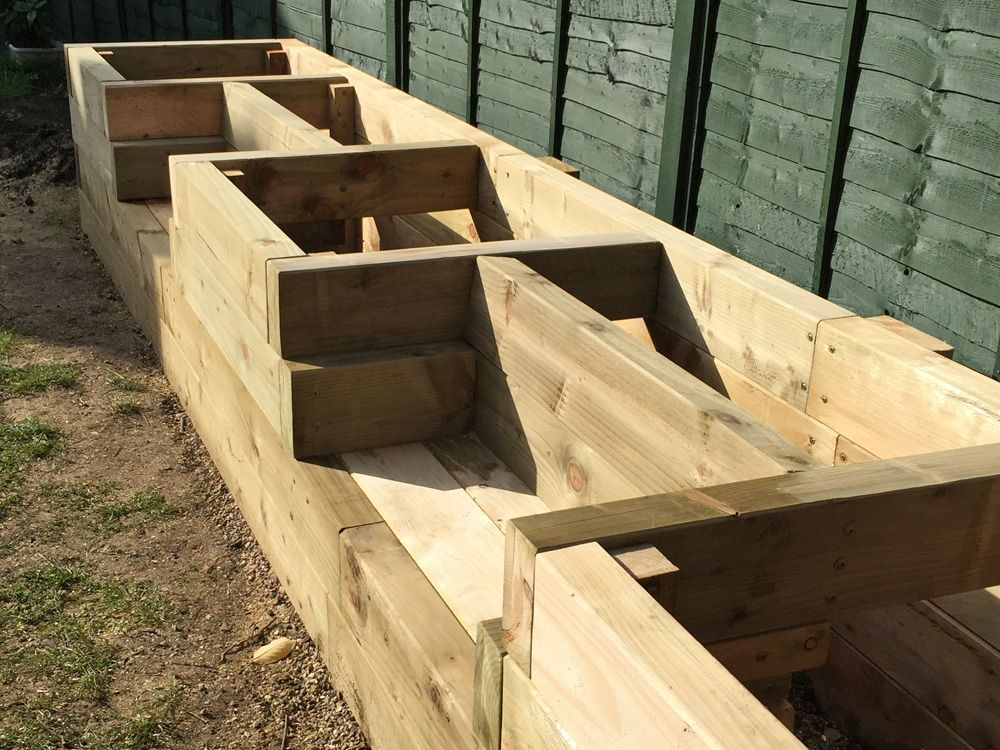 Raised Garden Bed With Seating