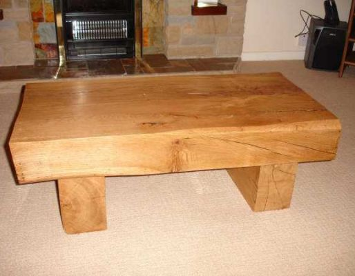 Louise Hubbard's oak table with railway sleepers
