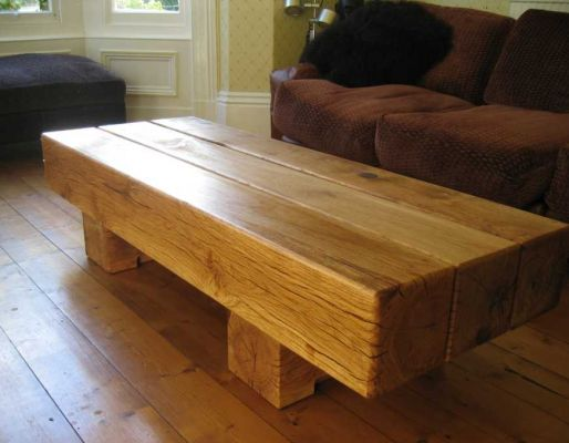 Martin Potter's table from new oak railway sleepers