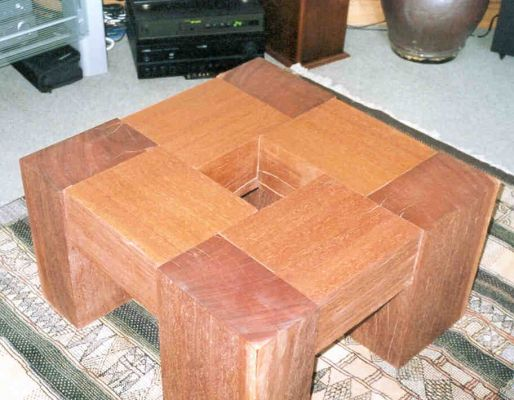 Matt's azobe railway sleeper coffee table