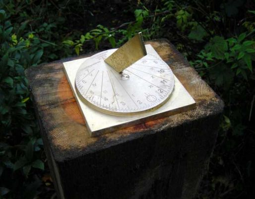 Matthew Barry's railway sleeper sundial