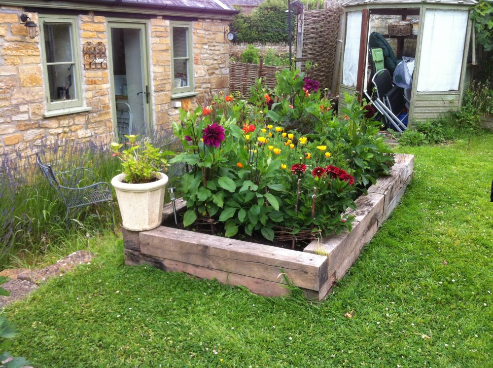 Melisa S Raised Railway Sleeper Vegetable Bed