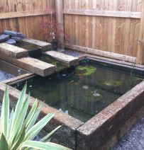 Mick Wilkinson's Pond with Railway Sleepers