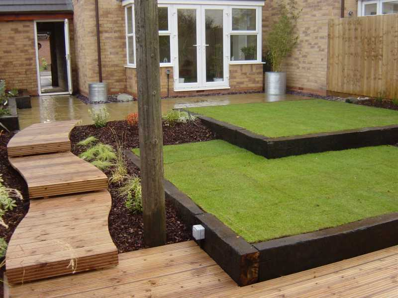 Railway sleepers for Garden design ideas glasgow