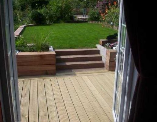 Neil Baker's railway sleeper landscaping