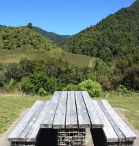 Aukland benches from new and old railway sleepers