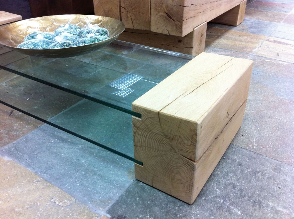 coffee tables made from railway sleepers. oak railway sleeper