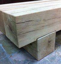 Classic coffee table from New oak railway sleepers