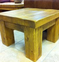 Simple coffee table from new railway sleepers
