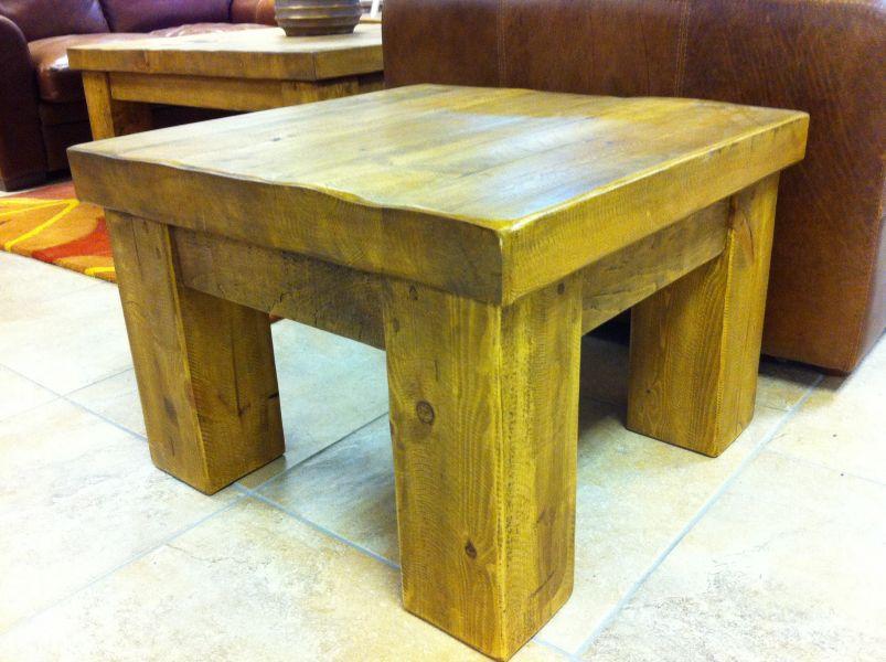 Pine coffee table from new railway sleepers